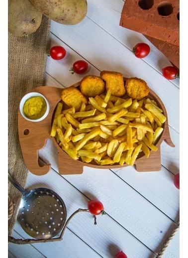 Joy Kitchen  Fil Servis Tabağı - Sosluklu Renkli